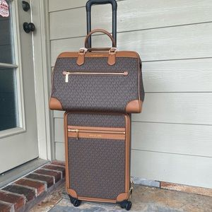 MK set of travel trolley and weekender bags